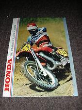 NOS HONDA CR 125 250 450 RB 1981 8 PAGE SALES BROCHURE BOOKLET EVO ELSINORE 81