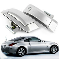 Pair Outside Outer Door Handle Pads Right&Left For 2003-2009 Nissan 350Z Silver