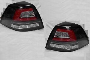 Full LED Black Tail Lights for Holden Commodore VE SSV SS New Dynamic Indicators