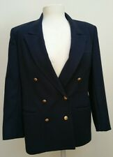 J.G. Hook Classic Navy 100% Wool Dress Suit Jacket Womans Size 4 Made in USA