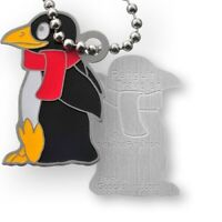 CoinsAndPins® Penguin - Travel Tag Pinguin Meer Tier Nummer Trackable Travelbug