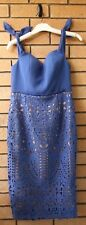 Love Honor Audra Women's Ladies Lace Dress Size 14 Cornflower