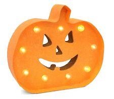 Battery Operated Light Up Pumpkin Halloween Sign Decoration