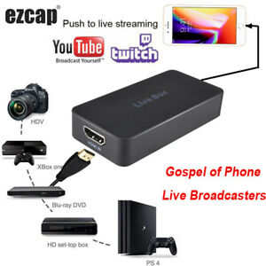 HDMI Video Capture Card Game Recording Box for iOS Android Phone Live Stream Box