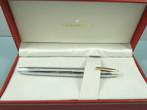 Vintage Sheaffer Imperial 506X Bright Chrome Lined Fountain Pen,GT,Box *Nr MINT*