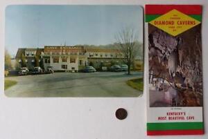 1960s Park City Kentucky Diamond Caverns Cave brochure & 1950s BIG postcard set!