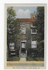 Vintage Postcard Toronto Canada Mary Pickford's Birthplace WB