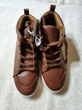 Boys Florian Mid Top Sneakers - Cat & Jack Tan / Brown -- Size 3