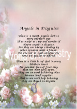 Mum Mother Angels in Disguise Personalised Verse Thank You