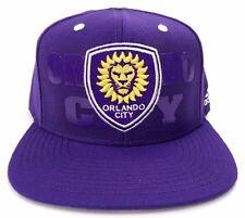Orlando City ADIDAS MLS Academy SC Soccer Snapback Adjustable Fit Hat Cap