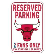 """CHICAGO BULLS FANS ONLY 11""""X17"""" PLASTIC SIGN DURABLE POSTER"""