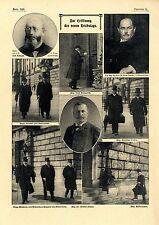 Eröffnung des neuen Reichstags Dr.Herm.Paasche Joh.Kämpf Vizepräsidenten...1907