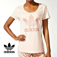 Adidas Originals Womens Caribbean Logo Tee T Shirt Top Free Tracked Delivery