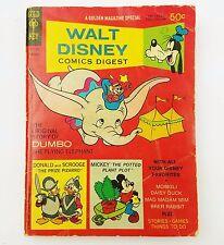 Walt Disney Productions Comics Digest Dumbo Feb 1969 A Golden Magazine Special