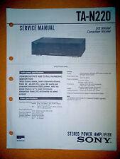 Sony TA-N220 Service Manual (original) Used