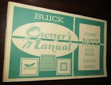1977 Buick Owners Manual - LeSabre, Estate Wagon, Electra, & Riviera