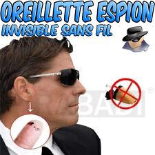 Mini Oreillette Espion Invisible Induction Micro Sans Fil pack de 2 oreillette