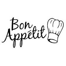 Adesivo parete wall sticker cucina ristorante bistrot Buon Appetito Bon Appetit