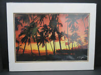 Vincent K. Tylor Hawaii Photo Images, Hawaiian Sunset Signed - Matted 11X14 (d11