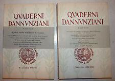 Gabriele D'Annunzio: QUADERNI DANNUNZIANI 2 voll XXX - XXXIII 1965 Vittoriale