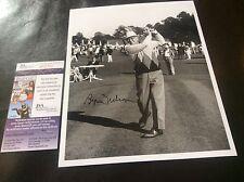 Byron Nelson Golf Signature Photo 1981 Masters Augusta Texas JSA Certificate