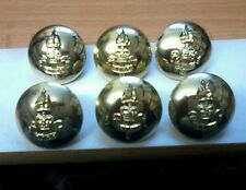 6 X ROYAL ARMY EDUCATION CORPS - RAEC - 1 INCH 25MM GOLD BUTTONS