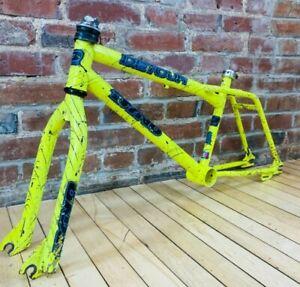 """Dyno Detour 20"""" Wheel BMX Bike Frame/Fork/Headset/Seat Clamp Hideous Yellow"""
