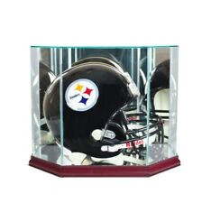 F/S Glass Cherry Football Helmet Display Case New UV NFL NCAA FREE SHIPPING