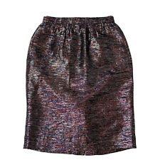 J Crew Collection skirt 2 Rush Hour Rare pencil black metallic 13380 midi New