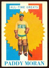 1960 61 TOPPS HOCKEY #2 PADDY MORAN VG-EX QUEBEC OLD TIME GREATS CARD