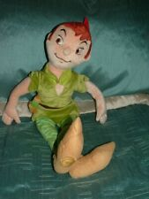 "DISNEY STORE  LARGE 20"" PETER PAN PLUSH SOFT DOLL TOY  (A)"