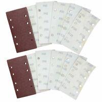 Hook/Loop 1/3 Sheet Sanding Sander Sandpaper Pads 20 Pack Mixed Grit 40  120