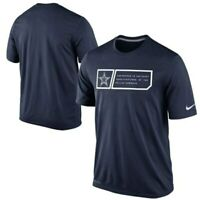 New Nike Dallas Cowboys NFL Football Dri-Fit t-shirt men's small S jock tag navy