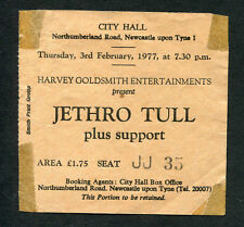 Original 1977 Jethro Tull Concert Ticket Stub Newcastle UK Songs From The Wood