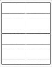 Standard White Matte Product Labels ~ 10 Label Sheets
