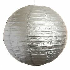 "(Set of 3) Silver Paper Party Wedding Lanterns - 12"", 16"" and 20"" sizes"