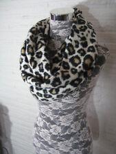 Soft Cheetah Print Fleece Warm Winter Cuddly Soft long infinity loop scarf