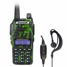 BAOFENG UV-82 Green Dual Band UHF/VHF 137-174/400-520MHz FM Radio + Earpiece US