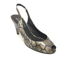 Women's Donald J Pliner Papina Pump Heels Shoe Size 8M Gray Green Slingback AE13