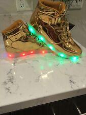 Flashing Unisex Women Men LED Shoes Luminous Light Up Sneakers Size EUR 44 USA 9