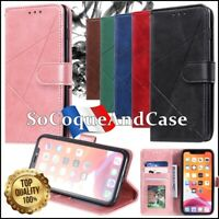 Etui coque housse RHOMBUS Cuir PU Leather Case Xiaomi Redmi Note 8, Note 8 Pro
