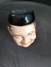 Tobacco Jar Dutch Man's Head 5 1/2 - 4 Inches Colorful