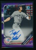 JAKE SANFORD AUTO 2019 Bowman Chrome Draft Autograph PURPLE REFRACTOR #/250 RC