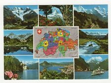 Switzerland, Map Postcard #4, B216