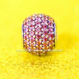 Red Pave Lights Authentic Pandora Charm Sterling Silver Bead 791051CZR