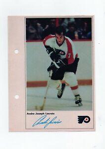 1971/72 NHL ACTION PLAYER ANDRE JOSEPH LACROIX PICTURE W/ FACSIMILE AUTOGRAPH