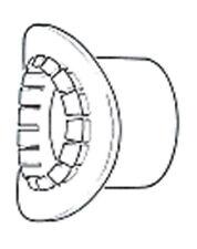 "32 mm / 1.1 / 4 ""BIG BOSS BLACK Tubo Adattatore per tubo rifiuti BB3 / BS"