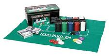 TEXAS HOLD'EM POKER GIFT SET CHIPS PROFESSIONAL CASINO GAME CARDS METAL GIFT TIN