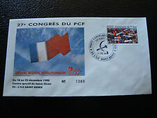 FRANCE - enveloppe 21/12/1990 27e congres du PCF (cy7) french (N)