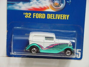 HOT WHEELS 1991 BLUE CARD COLL. 135 '32 FORD DELIVERY MIB